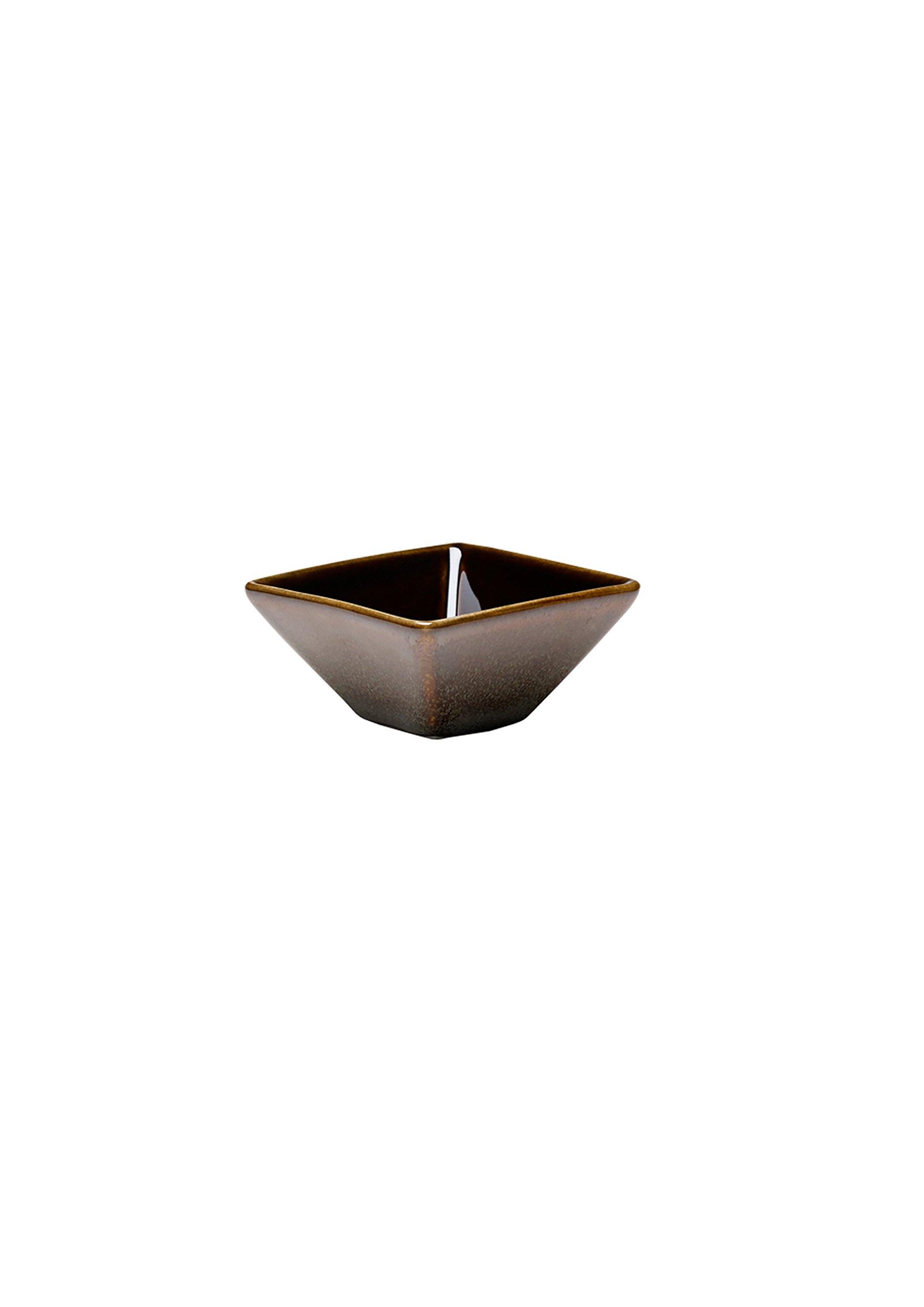Oneida Foodservice L6753059940 Square / Triangular Sauce Dish 2.75'', Rustic Chestnut