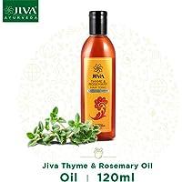 Jiva Ayurveda Thyme & Rosemary Oil (120 ml) || Prevents hair loss and dandruff || Nourishes the hair