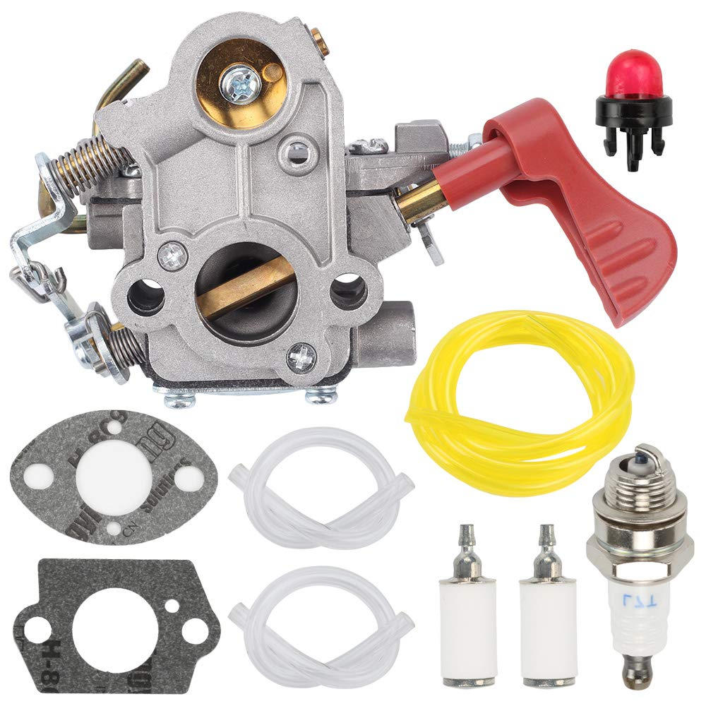 Fuel Li 545008042 545189502 Carburetor for Zama C1M-W44 Poulan Pro PP338PT PP033 PP133 PP333 Gas Trimmer 33cc Carb with Turn Up Kit by Fuel Li