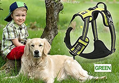 SGODA Front Range Dog Harness 3M Reflective Pet Vest Harness