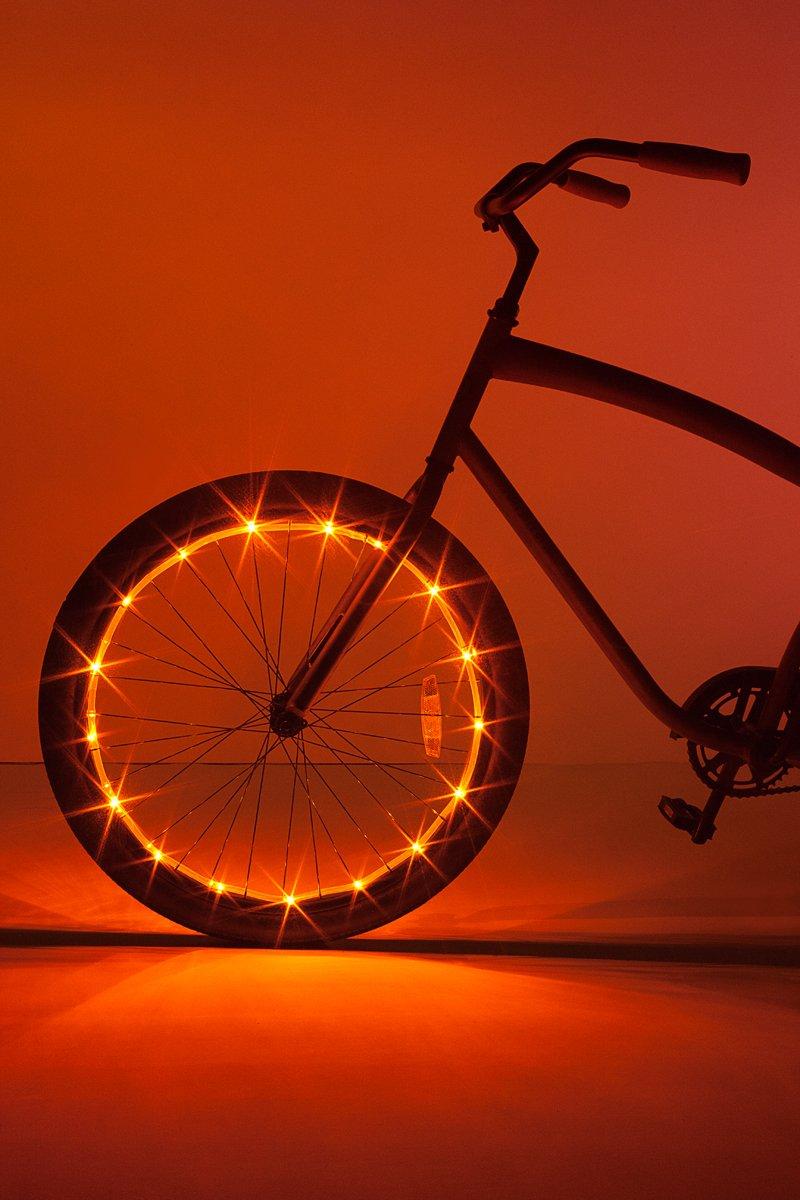 Brightz, Ltd. Wheel Brightz LED Bicycle Accessory Light (for 1 Wheel), Orange