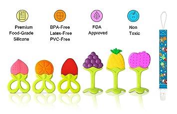 VDROL Anillo de dentición Bebé Natural BPA Sin Silicona ...