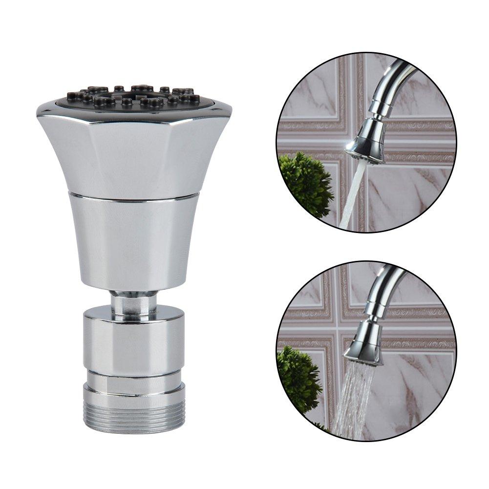QLOUNI Actualizar Ahorro Agua Aireador Desmontable para Cabezal del Grifos de Cocina Cromado G1//2 con 3 Tipos de Tipos de Chorro