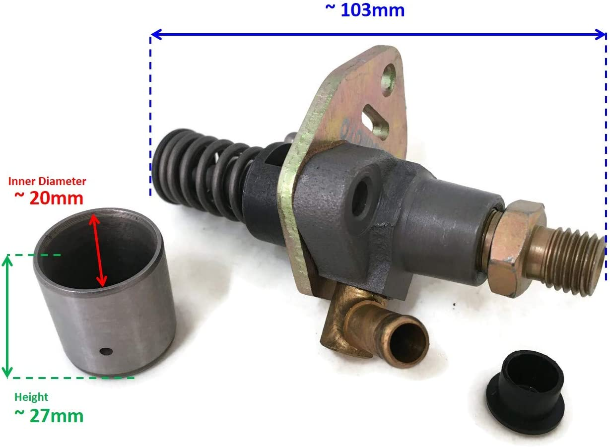 for and ITACO Yanmar L48 L70 Diesel Engine Fuel Pump Chinese 170 170F 178 178F no solenoid