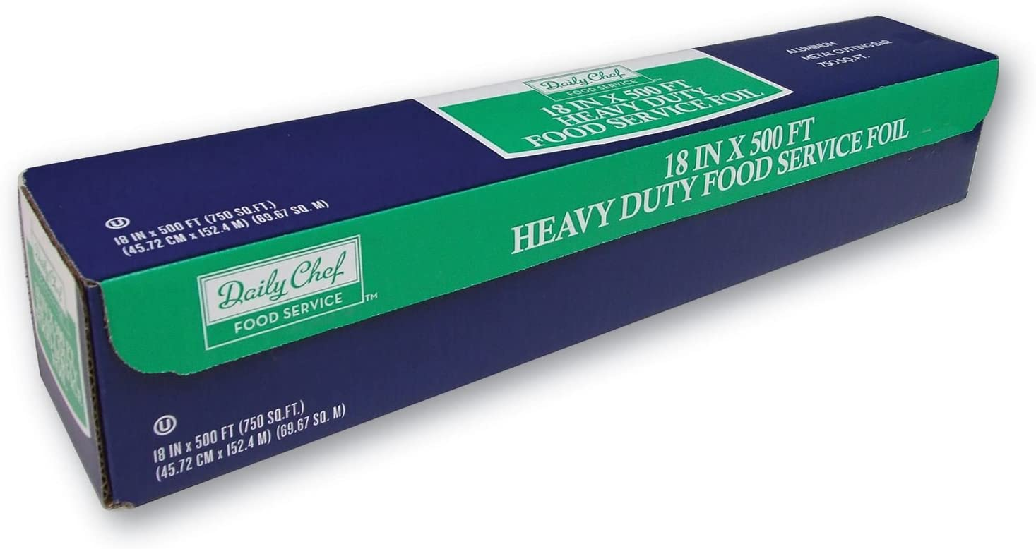 "Heavy Duty Aluminum Foil For Food Service, BBQ & Catering - 18"" x 500FT Roll"