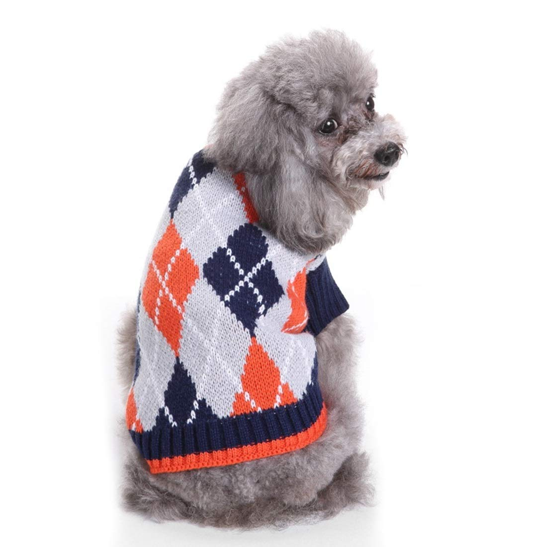 MYD60 Lange XXL MYD60 Lange XXL AUSWIEI Dog Sweater Pet Christmas Sweater Knit Turtleneck Pet Clothes Sweater Dog Sweater (color   MYD60 Lange, Size   XXL)