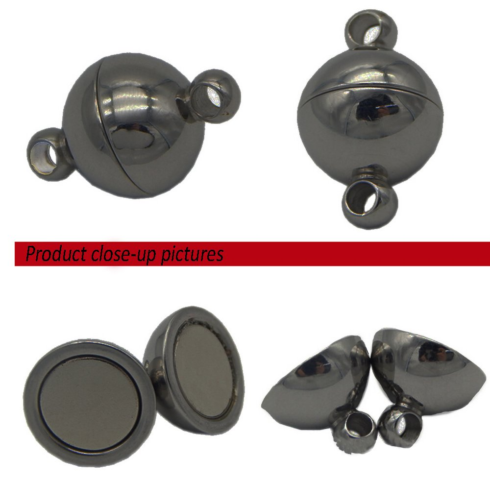 REKYO 40sets Ottone Tondo Gioielli Magnetici Chiusure Per Collana Braccialetto Rendendo Magnete Converter Blend 8mm