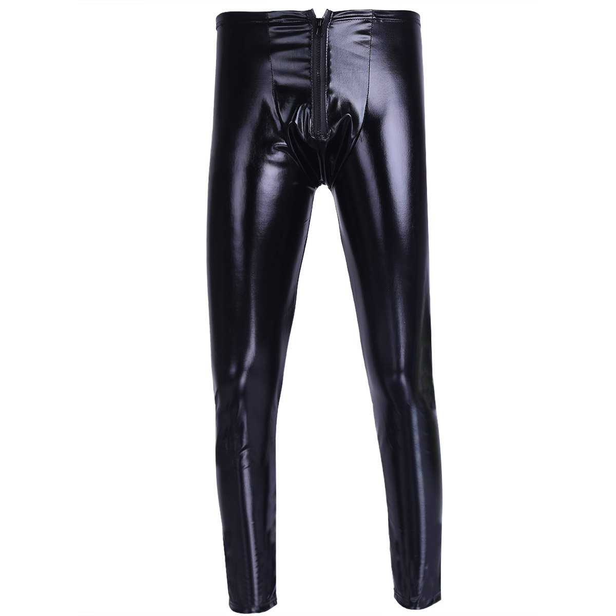 iEFiEL Herren Strumpfhosen Wetlook Glanz Lack-Optik schwarz Leggings Enge Hosen Unterw/äsche Pants