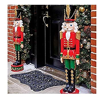 Outdoor Toy Soldier Christmas Decorations.Set Of 2 36 Indoor Outdoor Nutcracker Toy Soldier Statue