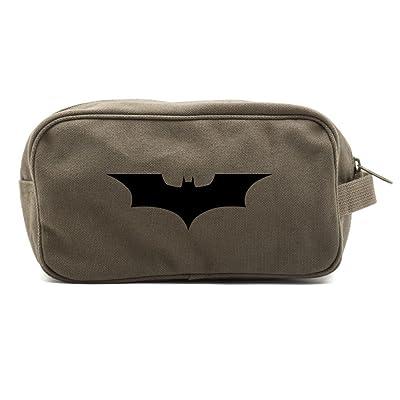 The Dark Knight Batman Logo Toiletry Bag Shaving Cosmetic Kit Travel Accessory