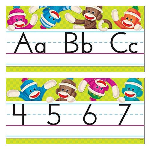 Bb Abc - TREND enterprises, Inc. Sock Monkeys Alphabet Line Standard Manuscript B.B. Set