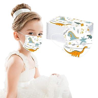 Imagen deMrTom Niños 𝐌𝐚𝐬𝐜𝐚𝐫𝐢𝐥𝐥𝐚𝐬 Desechables infantil de Filtro de 3 Capas Elásticos, 50 unidades, Dibujos Animados patrón (Dinosaur-B)