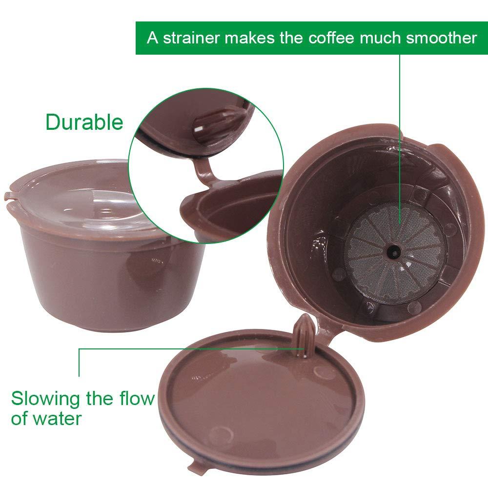 Letilio Filtros Cápsulas de Café puede rellenar reutilizar para Dolce Gusto Cafetera fuerte al menos 160 veces de usos para reemplazo,3 pcs con 1 cucharón ...
