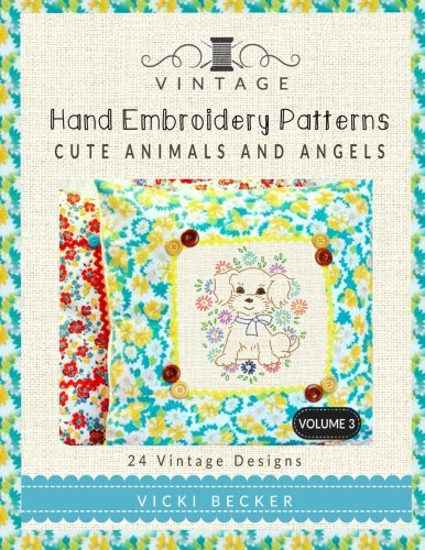 Download Vintage Hand Embroidery Patterns Cute Animals And Angels