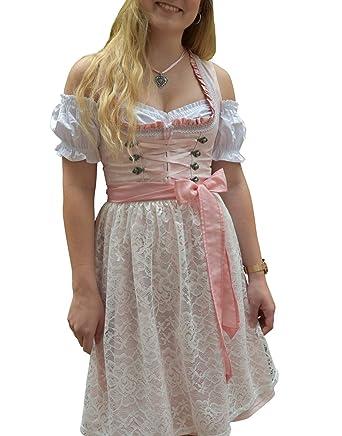 Damen Midi f/ür Oktoberfest 521GT Pastelviolett mit Schleifchen Muster Golden Trachten-Kleid Dirndl 3 TLG Set