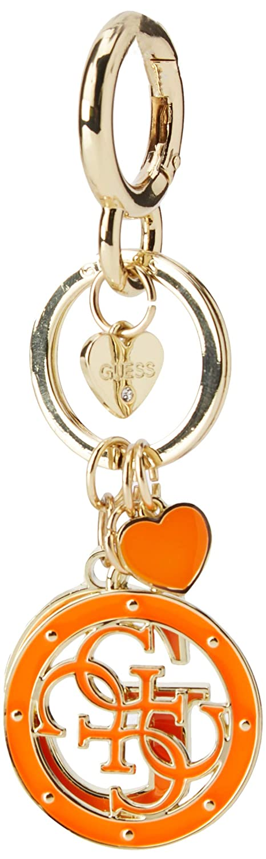 White (orange) Guess Women's Not Coordinated Keychain Portable Handbag Hanger