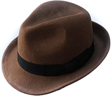 5 Sizes Men Women Fedora Hats Trilby Jazz Cap Felt Sunhat Winter Gangster Panama