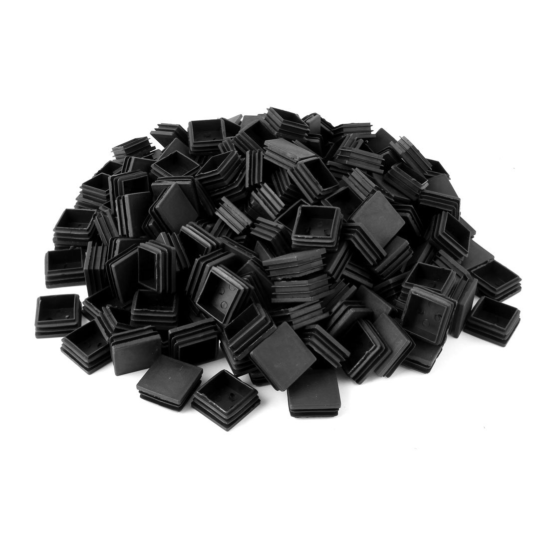 uxcell Plastic Home Office Square Table Chair Legs Tube Insert 38 x 38mm 200 Pcs Black