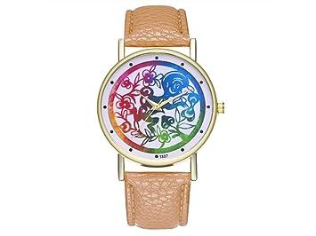 HOUHOUNNPO Reloj de Moda Vintage Zodiac Monkey Cuero Reloj para Mujer Hombre Moda Regalo de Cumpleaños