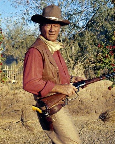 El Dorado John Wayne great image holding rifle 8x10 Promotional Photograph