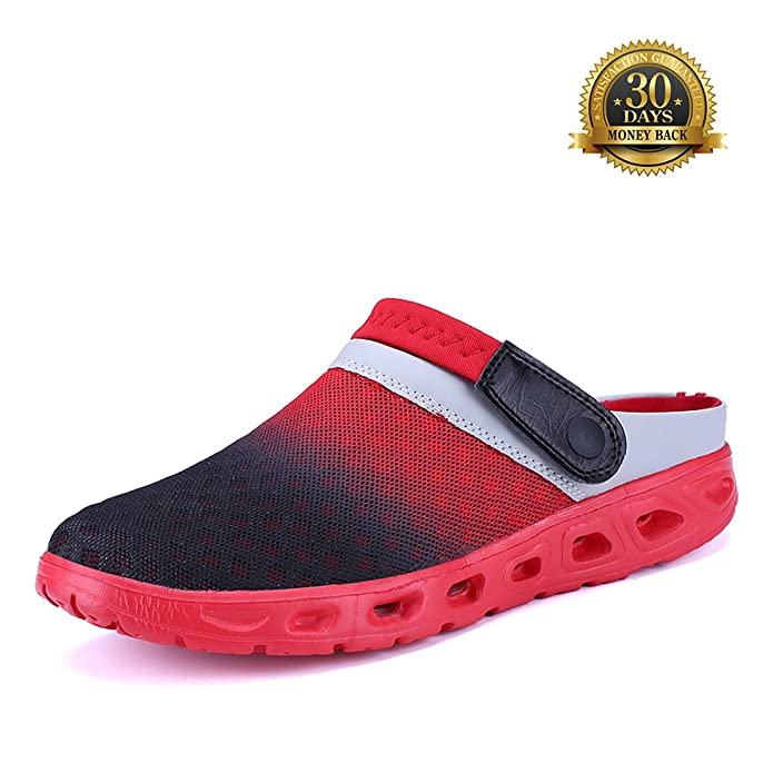 Beach Sandals For Men's and Women Breathable Mesh Sports Amphibious Slippers Light Pastel Color Unisex Outdoor Walking Garden Clog Shoes