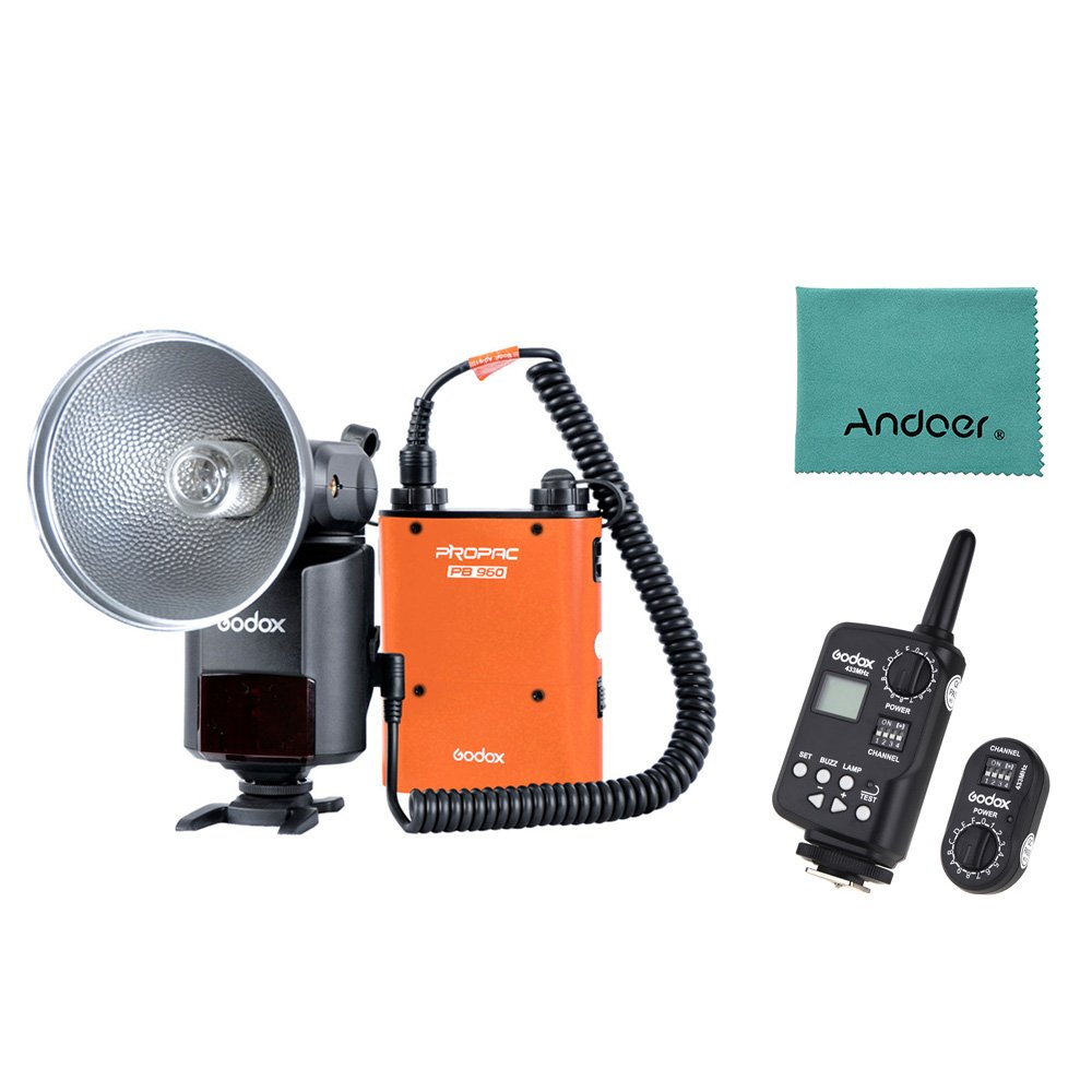 Godox Witstro AD-360 360W GN80 External Portable Flash Light Speedlite with PB960 Lithium Battery Pack Kit FT-16 Trigger for Canon Nikon Camera