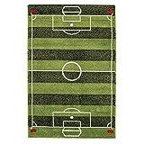 Play Rug Football Pitch Boys Girls Fun Interactive Green Soccer Field Soft Kids Bedroom Rugs