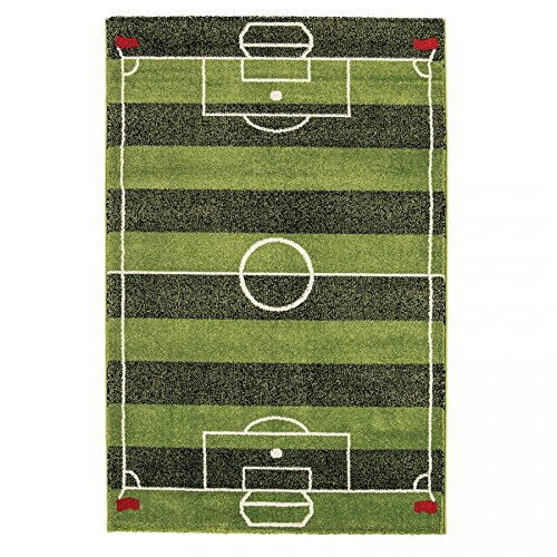Play Rug Football Pitch Boys Girls Fun Interactive Green Soccer Field Soft Kids Bedroom Rugs by The Rug House