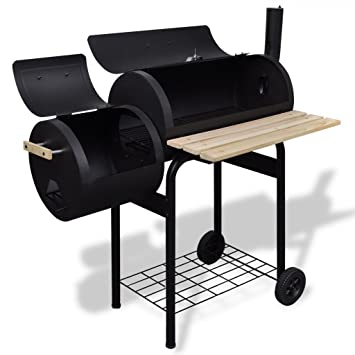festnight barril de acero barbacoa de carbón vegetal ...