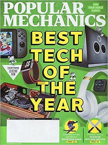 Popular Mechanics Magazine December 2017 Best Tech Of The Year