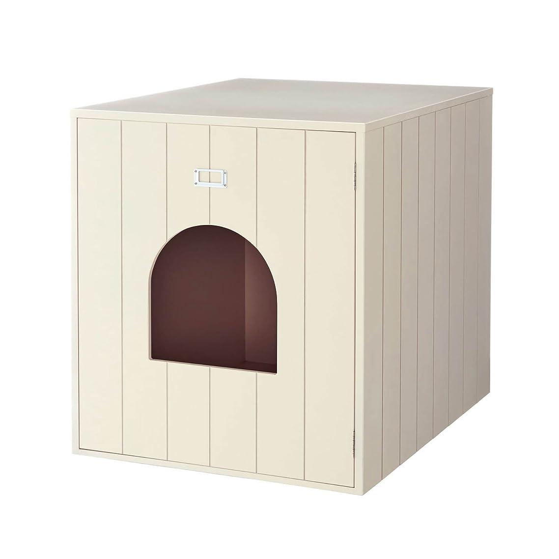 裁量鍔できたpidan 猫トイレ本体 大型 雪山をイメージした 広々のスペース 日本IONPURE抗菌技術 組み込み構造 手入れ簡単 (グレー)