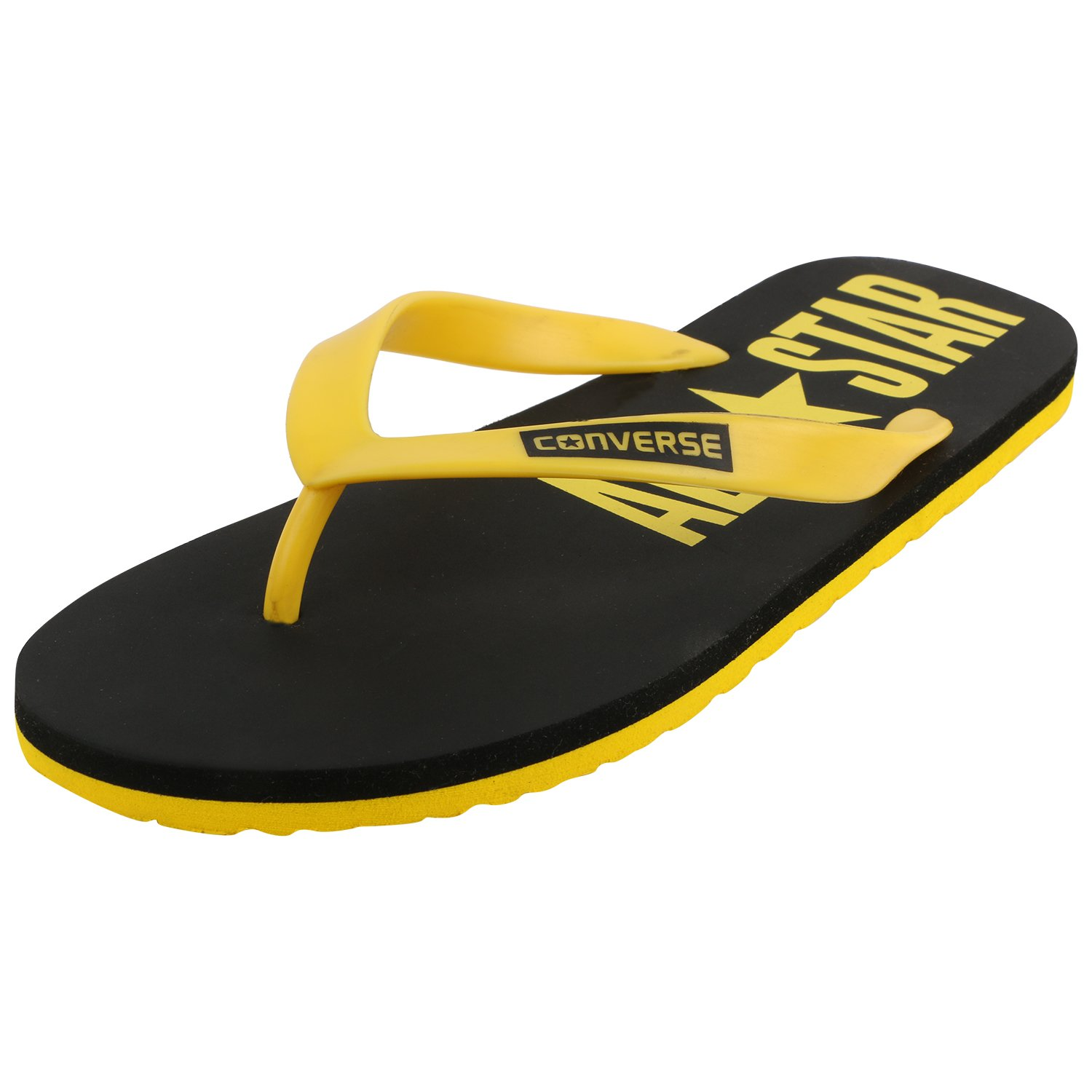 9b001d91c40a68 Converse Men s Black Yellow Flip-Flops and House Slippers - 10 UK India (44  EU)  Buy Online at Low Prices in India - Amazon.in
