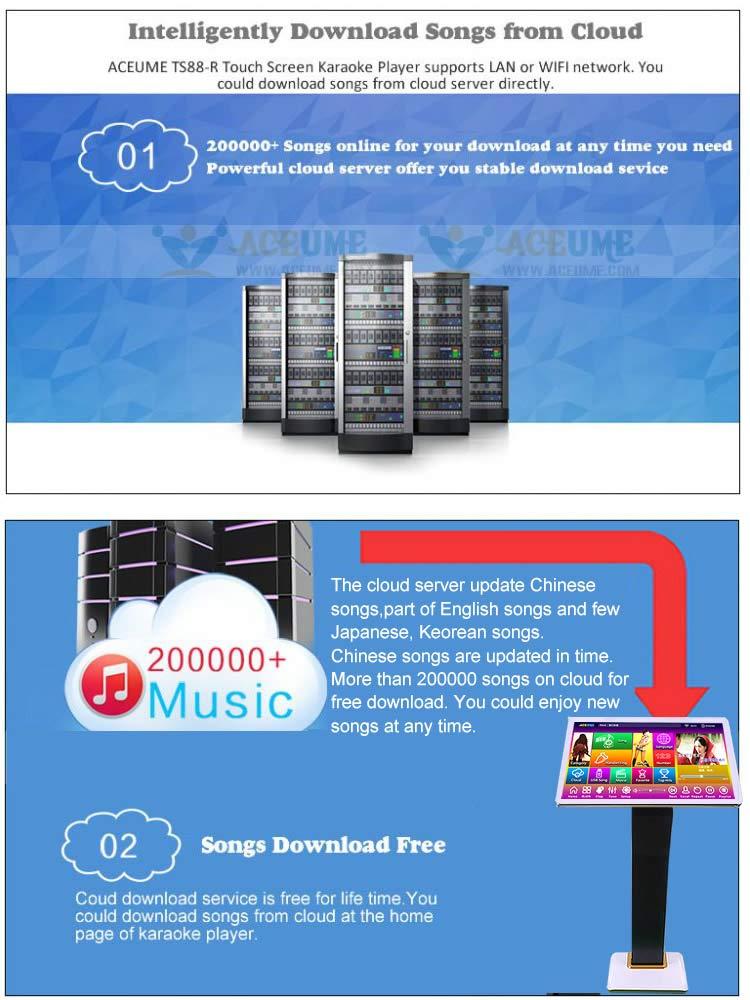Amazon com: 4TB HDD 87K Touch screen karaoke player, Chinese English