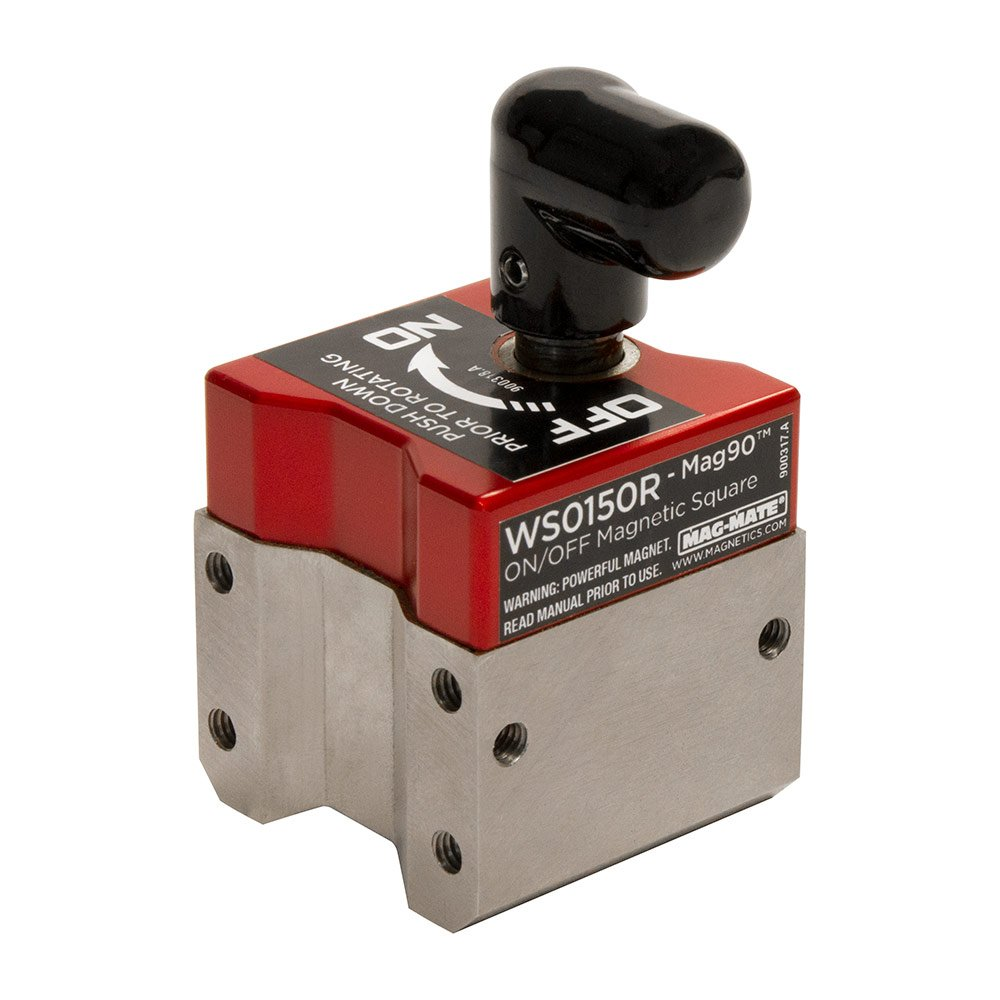 MAG-Mate WS0150R on/Off Magnetic Square, MAG90, 150 lb. Load Capacity, 2.75'' Height, 1.5'' Width, 1.5'' Length, Red