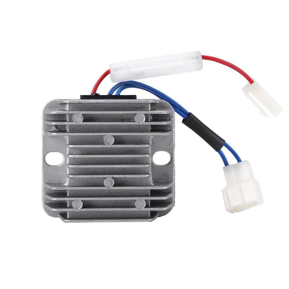 Akozon 12V DC Spannungsregler AVR F/ür luftgek/ühlten 178F//186F Dieselmotor KDE3500 5000 6500 6700 Generator Motorspannungsregler