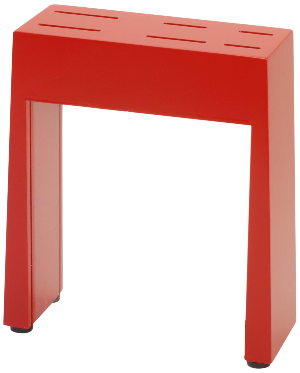 Gela Global See Thru Window Counter Knife Block, Red