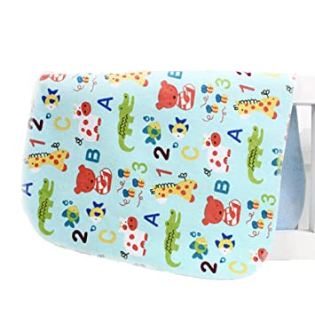 Set of 2 Waterproof Baby Diaper Changing Pads Diaper Liners BLUE 30x45cm Diapering
