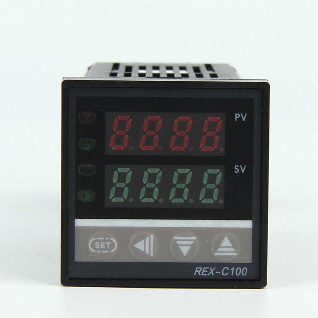 MagiDeal Termómetro Digital de Regulador Control Temperatura de Pid Dual 220v Rex-c100: Amazon.es: Coche y moto