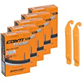 Continental Bicycle Tubes Race 28 700x20-25 S42 Presta Valve 42mm Bike Tube Super Value Bundle (Pack of 5 Conti tubes & 2 Con