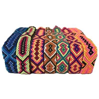 Wayuu Mochila Bags Solo pulsera de hilo-1,50 Cm - 86-1-13: Amazon.es: Joyería