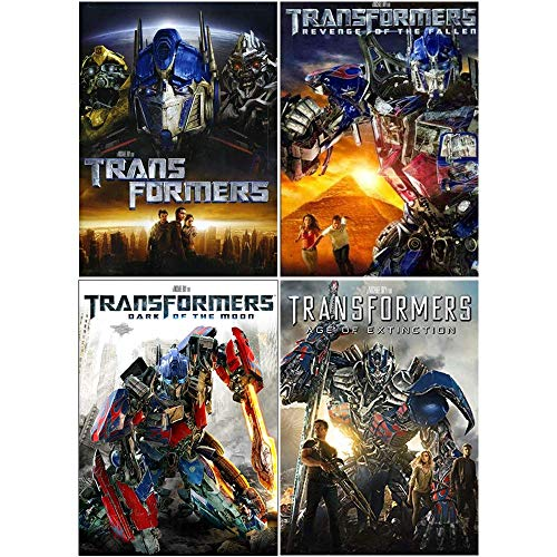 Transformers: Complete Movies 1-4 DVD Collection (Transformers / Revenge of the Fallen / Dark of the Moon / Age of Extinction)
