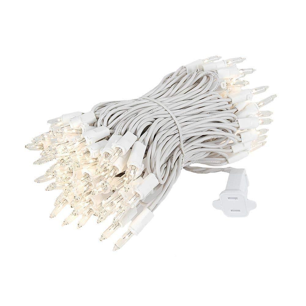 Novelty Lights 100 Light Clear Christmas Mini Light Set, Black Wire, 34' Long 34' Long COMINHKPR146310