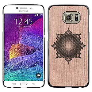 Funda Cubierta Madera de cereza Duro PC Teléfono Estuche / Hard Case for Samsung Galaxy S6 / Phone Case TECELL Store / Modelo abstracto Diseño Oriental Abstract Oriental Design Pattern
