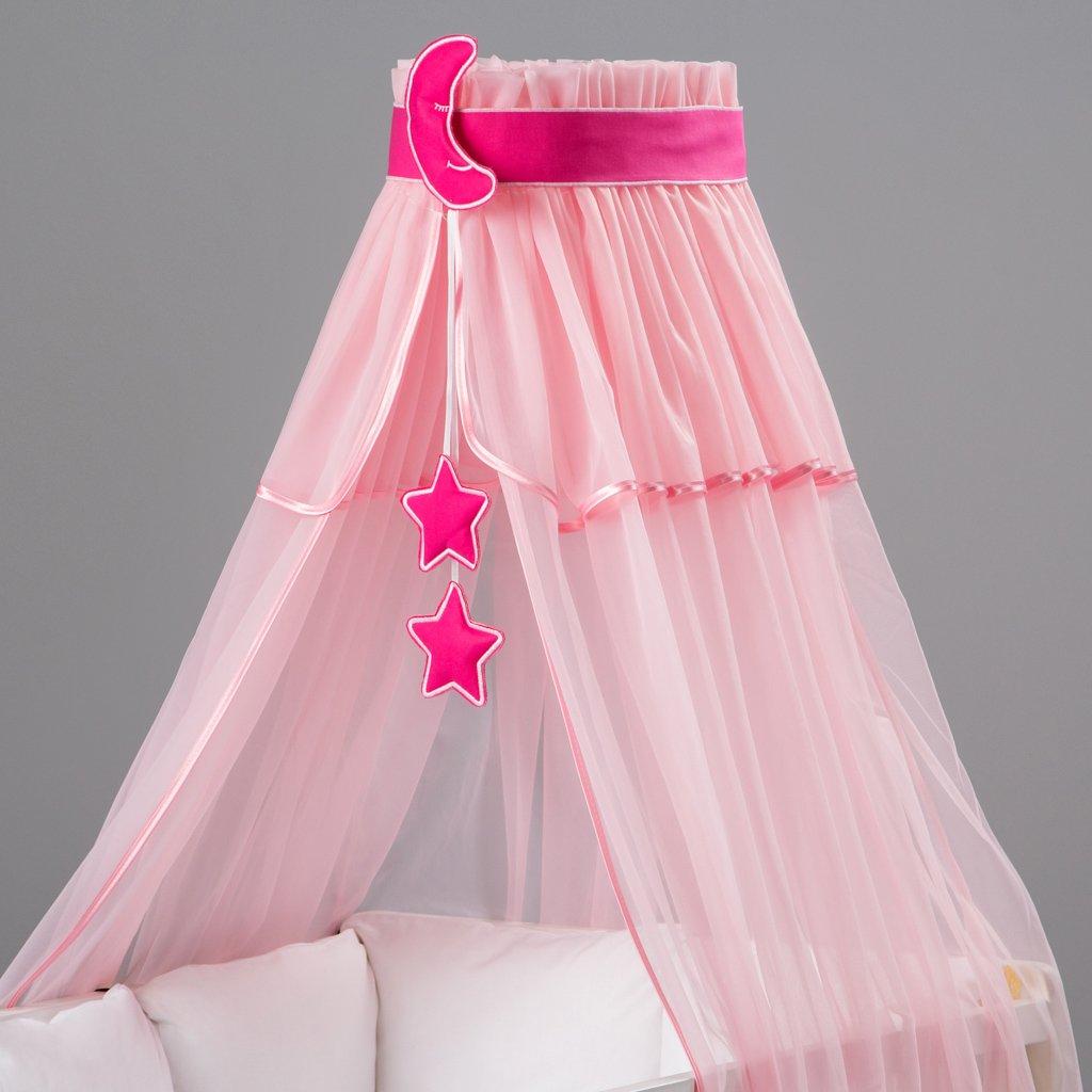 Betthimmel Moskitonetz Baby bunte Dekoration und Himmelhalter entworfen von Dreamzzz 3-teilig