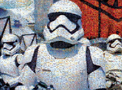 Star Wars - Photomosiac - First Order Storm Troopers - 1000 Piece Jigsaw Puzzle by Buffalo Games