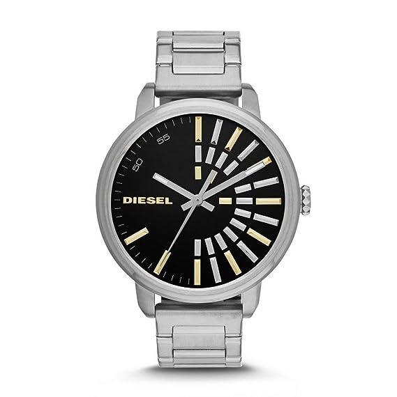 Diésel negro reloj de mujer con caja de acero inoxidable DZ5419