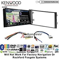 Volunteer Audio Kenwood Excelon DNX994S Double Din Radio Install Kit with GPS Navigation Apple CarPlay Android Auto Fits 2013 Nissan Frontier, Titan