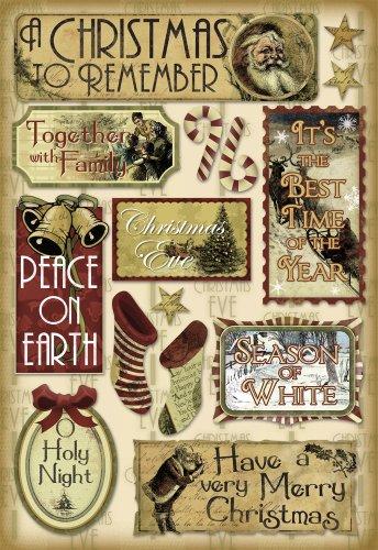 Karen Foster Design Acid and Lignin Free Scrapbooking Sticker Sheet, Holy Night (Old Time Santa)