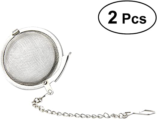 2 pcs Stainless Steel Mesh Tea Ball 1.8 Inch Tea Infuser Strainers Tea Strainer