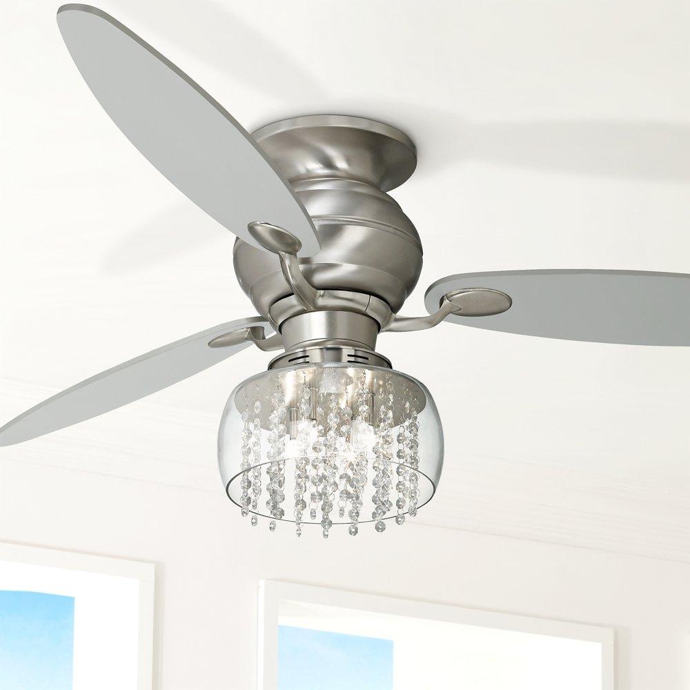 Possini Euro Design Crystal 11 Round Ceiling Fan Light Kit Universal